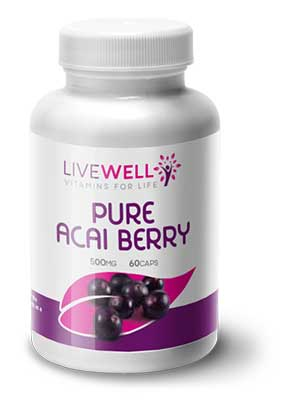Live Well Pure Acai Berry branded supplements wholesale