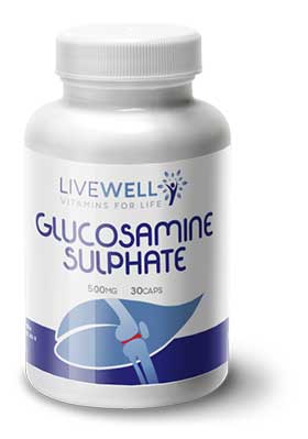 Live Well Glucosamine Sulphate branded supplements wholesale